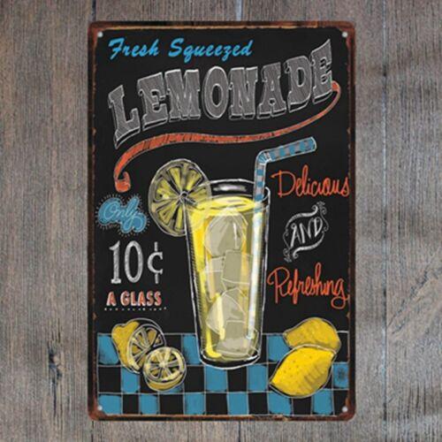 Lemonade Vintage Tin Signs Metal Plate Cafe Decor Art Wall Poster