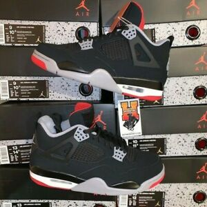 632ea646337a 2019 NIKE AIR JORDAN 4 RETRO BRED OG 308497 060 BLACK ...