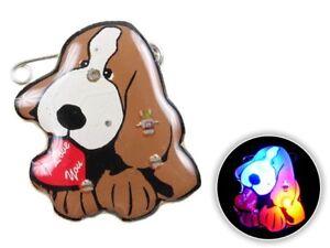 Blinki Anstecker Blinky Brosche Pin Button Hund mit Herz 132 blinkende Brosche
