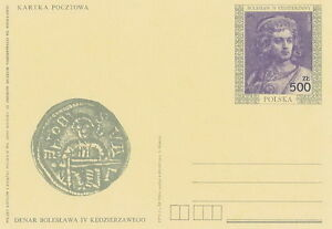 Poland prepaid postcard (Cp 1013) kings BOLESLAW IV KEDZIERZAWY - Bystra Slaska, Polska - Poland prepaid postcard (Cp 1013) kings BOLESLAW IV KEDZIERZAWY - Bystra Slaska, Polska