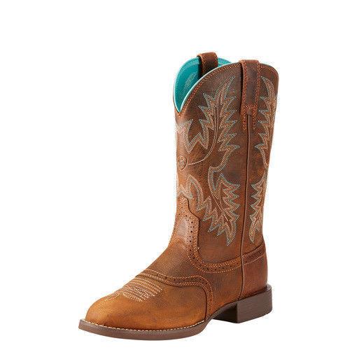 Ariat Women's Heritage Stockman Sassy Boot - Round Toe - 10023178