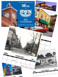 Irwin-PA-wall-calendar-for-2021-Yesterday-and-Today-photos-11-by-17-in-color