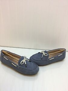 NIB-Vionic-HONOR-VIRGINIA-Blue-Leather-Slip-On-Moccasin-Loafers-Women-s-Size-7