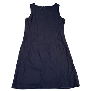 HOBBS London Womens Dress UK 12 Medium Navy Blue Sleeveless Side Pockets
