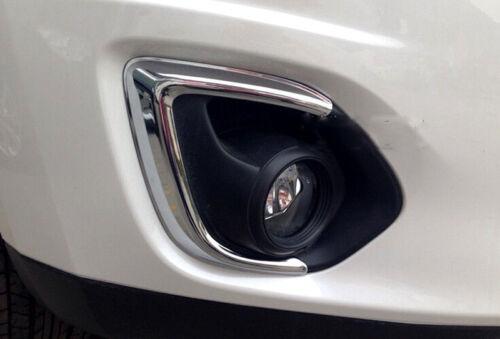 Chrome Front Fog Light Cover Trim for 2013-2015 Mitsubishi Outlander Sport//ASX
