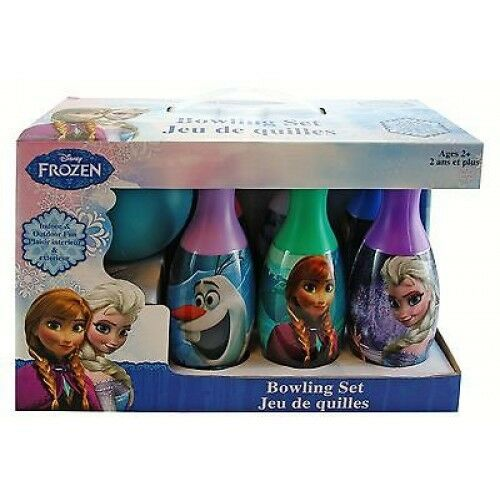 Disney Frozen Queen Elsa,Anna,Sven and Olaf Bowling Set Toy Game+Blue Wallet-New