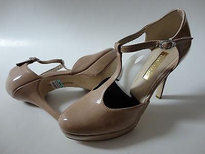 Tamaris Lack-Spangenpumps Pumps Schuhe Gr. 39 beige Neu zu Kleid Rock Hose