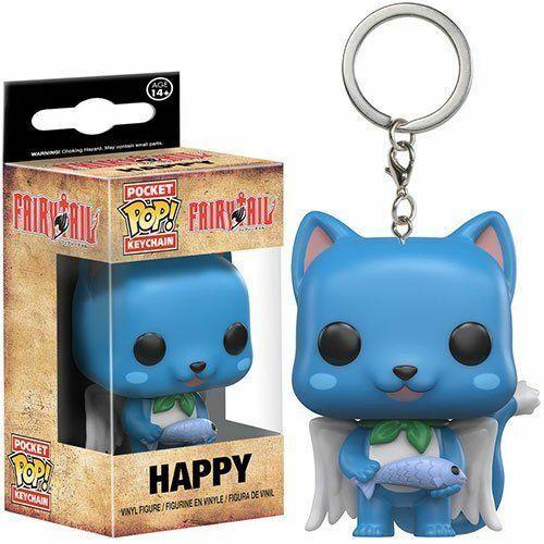 *NEW* Fairy Tail Happy Pocket POP Key Chain by Funko