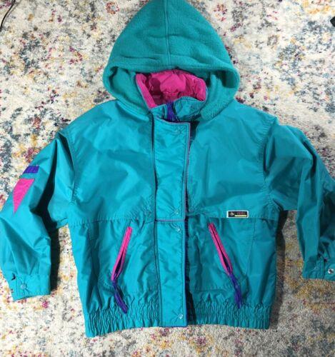 Vtg 80s 90s IZZI Ski Jacket WOMENS MEDIUM Retro Co