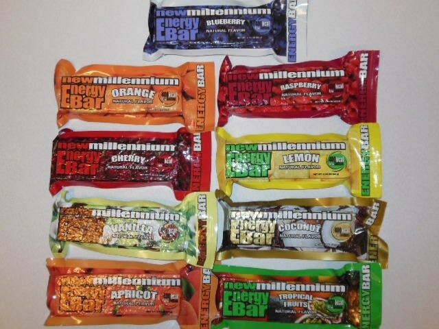 Lot of 72 New Millennium Energy Bars MIX AND MATCH  Flavors 400 Calories Each  all products get up to 34% off