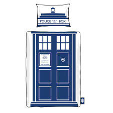 DOCTOR WHO TARDIS SINGLE DUVET SET 135 X 200CM OFFICIAL BBC GREAT GIFT