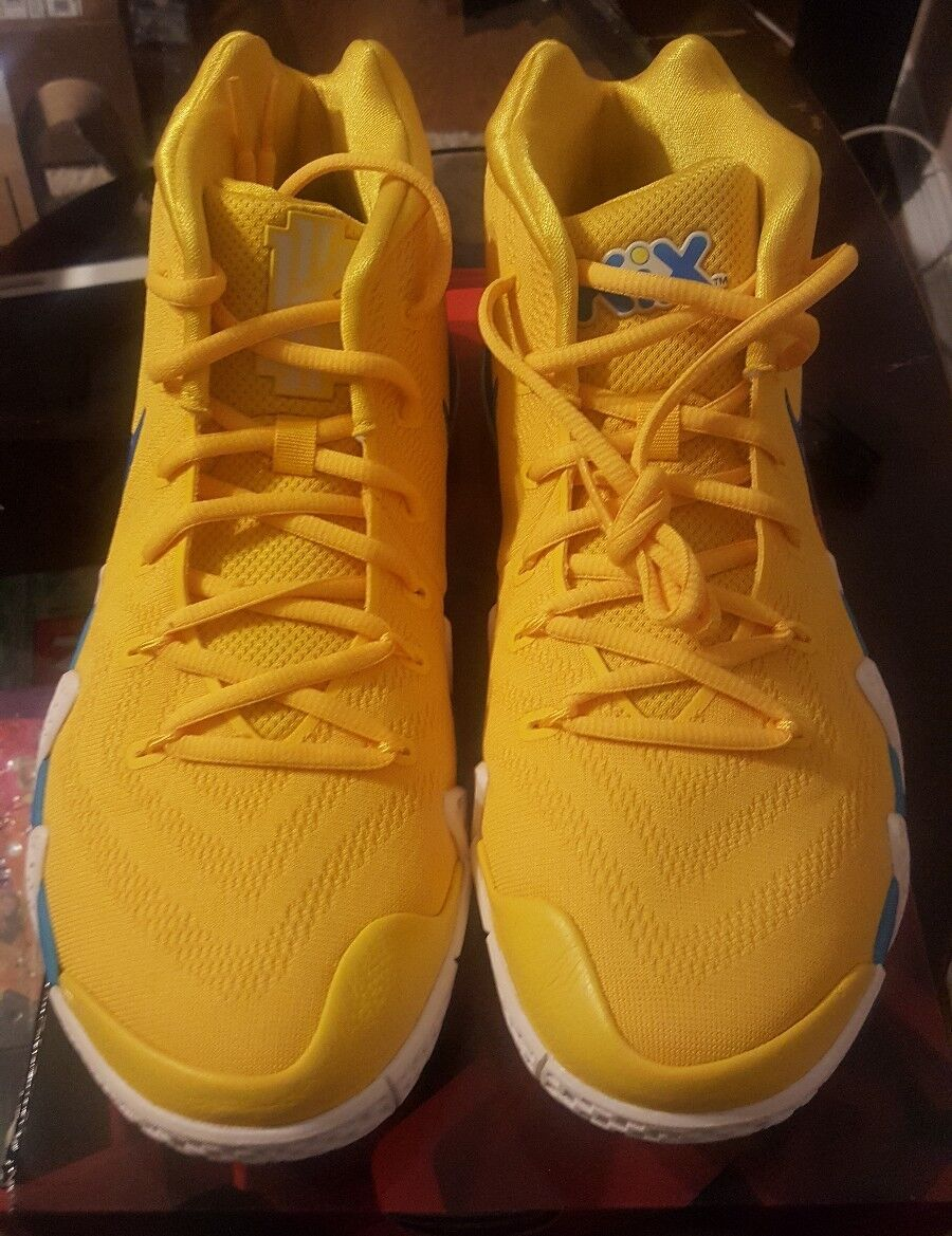 Nike Kyrie 4 Cereal Pack Kix Amarillo Yellow White BV0425-700 Size 11 NEW