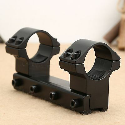 "One Piece High Profile 1"" 25.4mm Rifle Scope Dual Ring Mount 11mm Dovetail Rail"