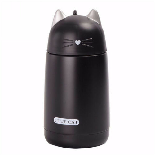 Thermos Mug Cute Cat Letter Print Vacuum Flasks Tea Milk Mug Double Wall one