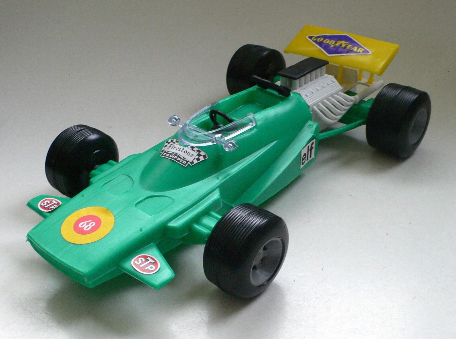 Sogimez 1 14 MATRA MS 120 Monaco GP FORMULE 1 Race Bilmodellll Grön 1971 37cm