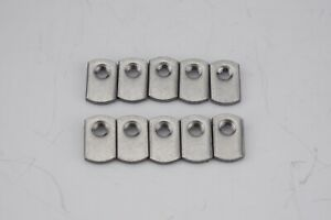 Weld Nuts//Spot//Offset Hole Spot Weld Nuts 1//4-20 Low Carbon Plain Steel Single Tab Weld Nut with Target 25