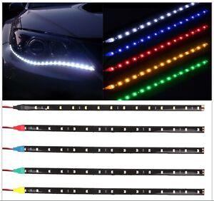 STRISCIA-LED-SMD-3528-30cm-bianca-rossa-blu-ultraluminosa-luce-cavo-12V-diodi