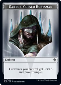 19//20 Garruk Cursed Huntsman EMBLEM x1 ~mtg NM Throne of Eldraine