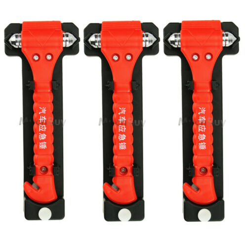 5x Emergency Escape Tool Auto Car Window Glass Hammer Breaker /& Seat Belt Cutter