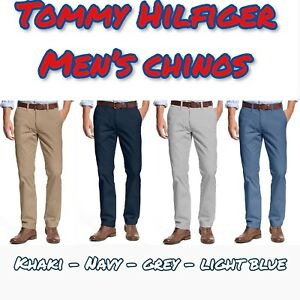 NEW-TOMMY-HILFIGER-Men-039-s-Tailored-Fit-Chino-Pants-Flat-Front-VARIETY