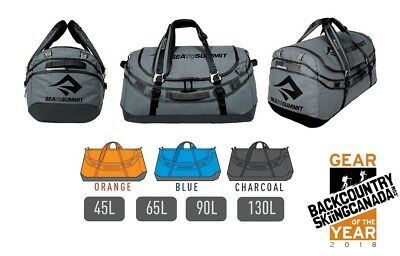 90L or 130L Holdall or Backpack 65L Sea to Summit Duffle Bag 45L