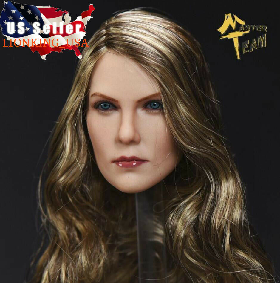 1 6 American Female Head Sculpt Brown Hair For 12  TBLeague PHICEN Figure ❶USA❶