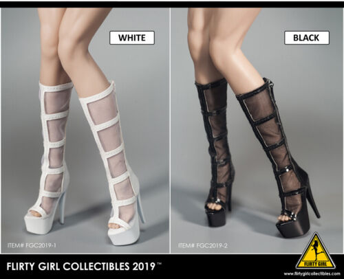 1//6 Flirty Girl Collectibles Female Shoes FGC2019 Boots F 12/'/' Figure Body