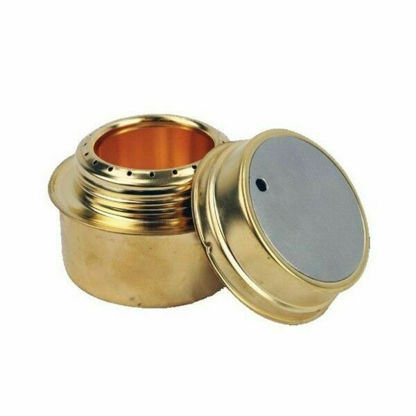 Yellowstone Brass Alcohol Meths Spirit Stove Camping Army Military Cooker Burner