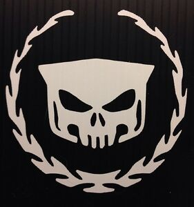 Cadillac-SRX-Escalade-ATS-CTS-Skull-And-Wreath-Sticker-Decal-You-Pick-Color
