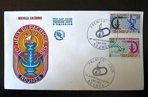 NOUVELLE-CALEDONIE-334-35-PREMIER-JOUR-JEUX-COURSE-NATATION-40-100F-1966