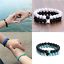 NEW Distance Bracelet For Lovers Friends Gift 8mm Beads Couples Anniversary Gift