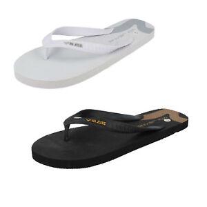 93320d358 Details about Mens Black White Voi Jean Toe Post Slip On Flip Flops Atlanta
