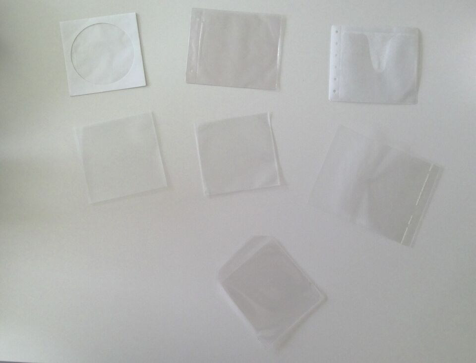 Opbevarings-lommer til CDer og DVDer plast & papir