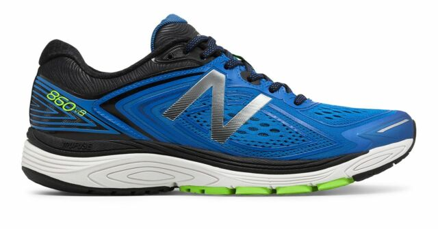 8a0fd3898fb New Balance Male Men's 860V8 Mens Running Shoes Blue With Green & Black
