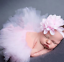 Pink Baby Girls Tutu Skirt Headband Set Chiffon Flower Hairband Infant Toddle