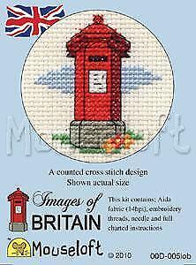 MOUSELOFT Mini Cross Stitch Kit-Images de la Grande-Bretagne Collection-Rouge Pillar Box