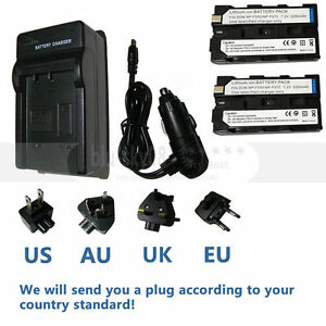 2x-NP-330-F550-2250mAh-Battery-Charger-For-Sony-NP-F960-NP-F970-NP-F550-F750