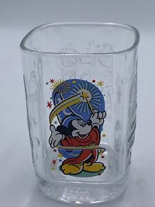 2000 Walt DISNEY World MICKEY MOUSE Wizard McDonalds EPCOT Anniversary Glass
