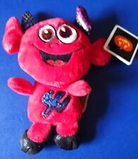 Dan Dee's Plush Friend Red Devil w/ Multi Color Ears & Smile on Face New 2014