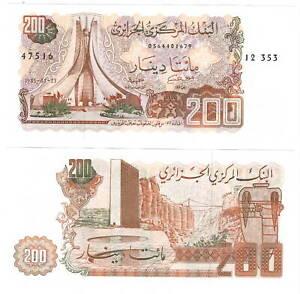 ALGERIA-200-DINARS-1983-P-135-UNC-Banknotes-Paper-Money