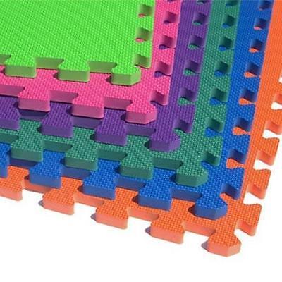 Herzhaft Eva Interlocking Multicolour Mat Play Safety Soft Foam Yoga Exercise Mat Garage