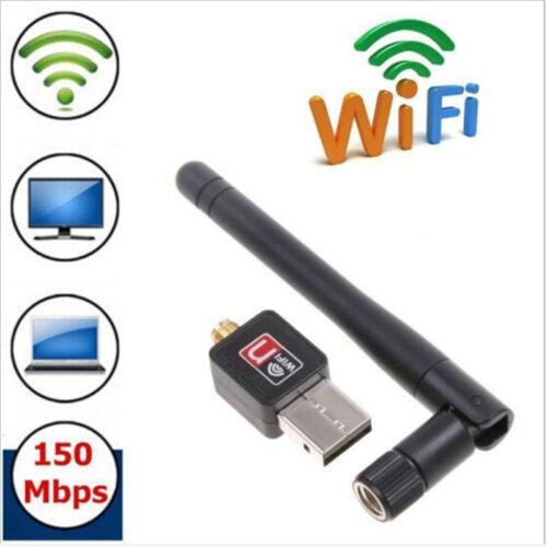 150M USB WiFi Wireless Adapter LAN w//Antenna Raspberry Pi 2 B ralink rt5370CPJB