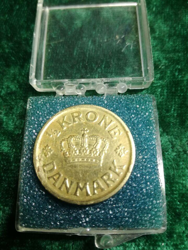 Danmark, mønter, 1/2 Krone