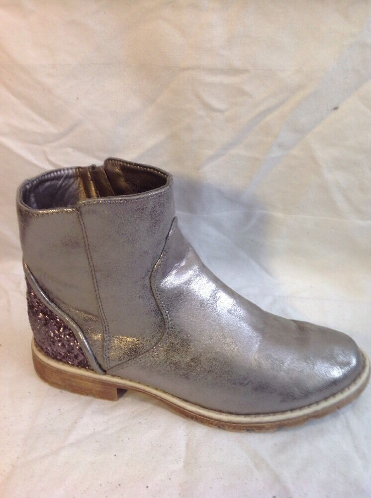 M&S Kids golden Ankle Boots Size 6