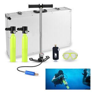 Hochdruck-Handpumpe-Scuba-2-MINI-0-5L-Tauchflaschen-Sauerstoffflasche-Atem-Pumpe