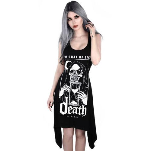 Goals Death Tod Grim Reaper Killstar Gothic Goth Okkult Tank Kleid Minikleid