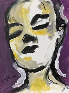PAINTING-ORIGINAL-ACRYLIC-ON-CANVAS-PANEL-CUBAN-ART-9-X12-By-LISA