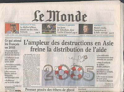 Origineel ▬► Journal De Naissance / Anniversaire Le Monde Du 19 Avril 2002
