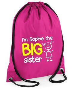 Personalised Football Gymsac Printed Customised School Swim Sports Bag PE Kit