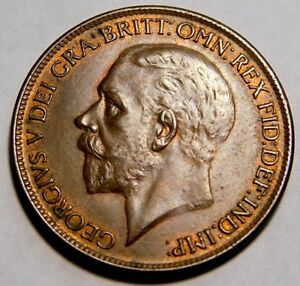 1927-GREAT-BRITAIN-LARGE-PENNY-ALMOST-UNC-HARD-TO-FIND-THIS-CONDITIN-A25-915